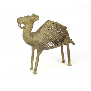 Dhokra art camel with lattice work