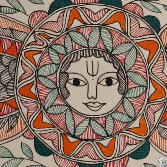 An Ornate Madhubani Painting