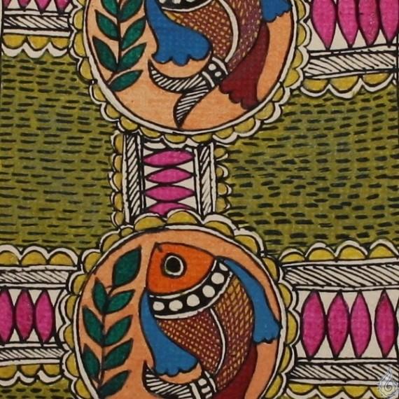 A Madhubani Fish Pattern