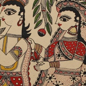 Radha-Krishna under the Kadamb tree