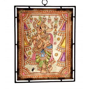 Ganesha plays flute