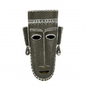 Bastar tribal mask with black background