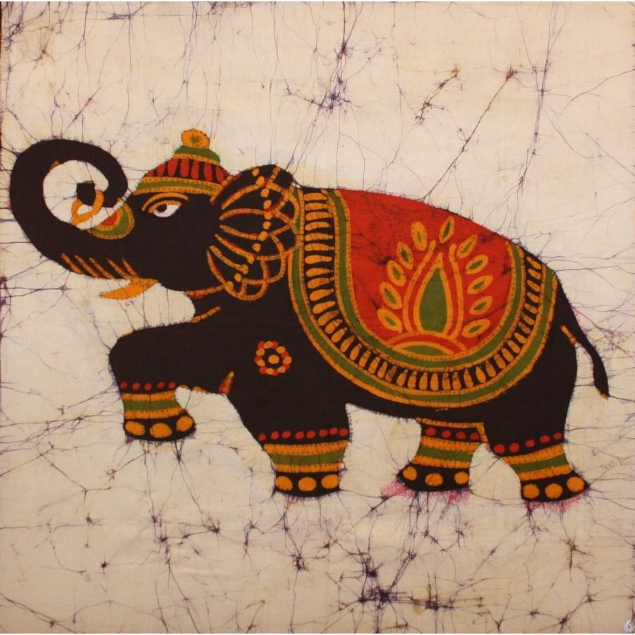 Batik Elephant Postcards | Zazzle